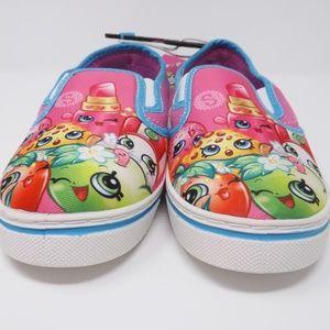 Shopkins Girls' Slip-On Casual Canvas Shoe